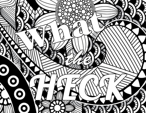 What The Heck PG Swear Word Coloring Book 1