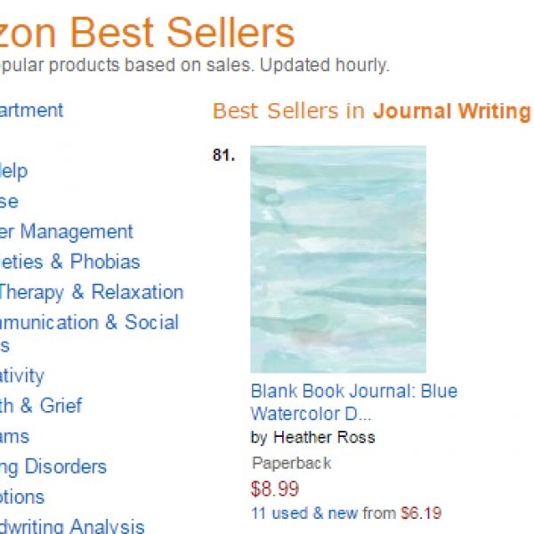 Our Journals Made Amazon's Best Seller List