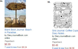 Amazon Best Sellers Beach in Paradise and Coffee Time Journal by DiaryJournalBook.com