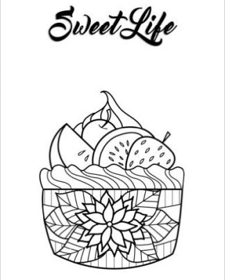 Zentangle Cupcake Daily Planner - 8.5 x 11, 380 pages with sections for date, time, notes, lists and doodles! DiaryJournalBook.com