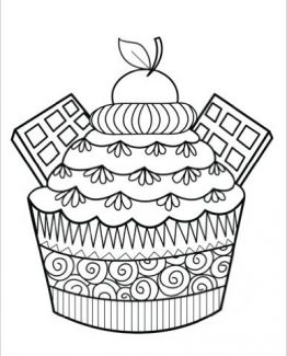 Zentangle Cherry Cupcake Daily Planner - 8.5 x 11, 380 pages with sections for date, time, notes, lists and doodles! DiaryJournalBook.com
