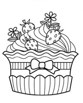 Zentangle Cupcake & Strawberries Daily Planner - 8.5 x 11, 380 pages with sections for date, time, notes, lists and doodles! DiaryJournalBook.com