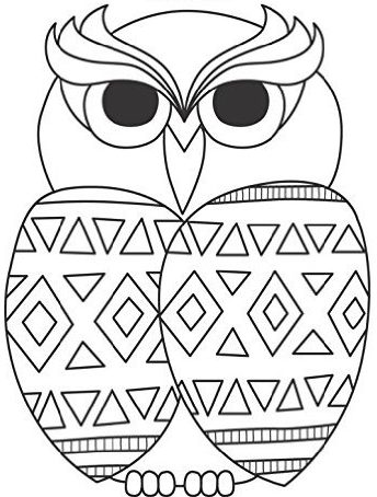 Zentangle Geometric Owl Daily Planner - 8.5 x 11, 380 pages with sections for date, time, notes, lists and doodles! DiaryJournalBook.com