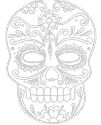 Sugar Skull Journal & Coloring Book ~ Color The Cover! DiaryJournalBook.com