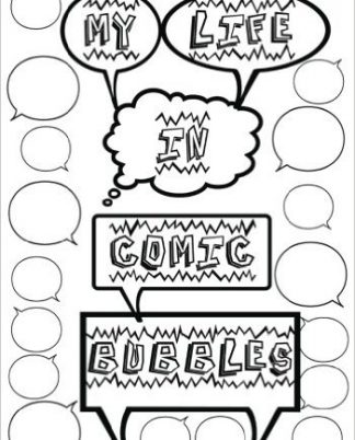 My Life in Comic Bubbles ~ Blank book with quote bubbles to track your every random thought! 88 Pages - 7 x 10, Color The Cover! www.DiaryJournalBook.com