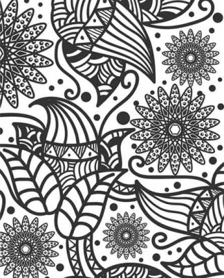 Zentangle Flower Design Daily Planner - 8.5 x 11, 380 pages with sections for date, time, notes, lists and doodles! DiaryJournalBook.com