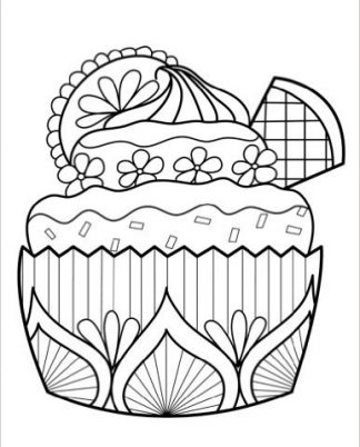 Zentangle Cupcake Wafer Cookie Daily Planner - 8.5 x 11, 380 pages with sections for date, time, notes, lists and doodles! DiaryJournalBook.com