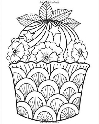 Zentangle Cupcake Mint Daily Planner - 8.5 x 11, 380 pages with sections for date, time, notes, lists and doodles! DiaryJournalBook.com
