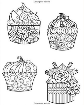 Zentangle Cupcake Crazy Daily Planner - 8.5 x 11, 380 pages with sections for date, time, notes, lists and doodles! DiaryJournalBook.com